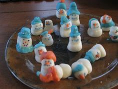 "Snowman Mints: ""...so what do you do when you are craving the white powder?? You make your own snowman village! This craft is definitely for the older kiddos (and their patient moms)!"" #hotm #blog #snowman #snow #winter #christmas"