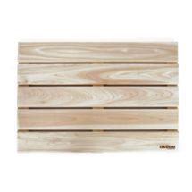 // Cypress Wood Bathmat by Love, Adorned