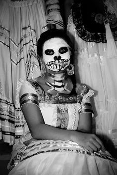 face makeup, día de, la muert, sugar skull, los muerto, de los, halloween costum