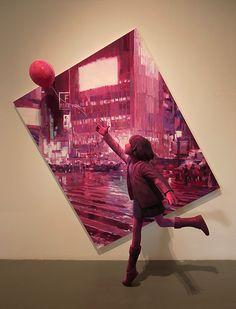 """「風船」""""Balloon"""", 2014, painting, polystyrene based sculpture"""