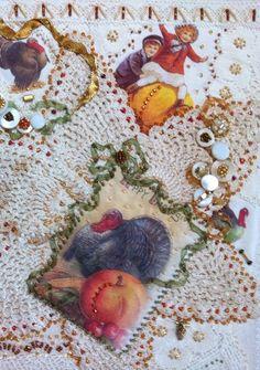 AAQI Thanksgiving Quilt closeup.  Rhonda Dort