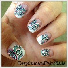 Beautiful Peacock nails :)