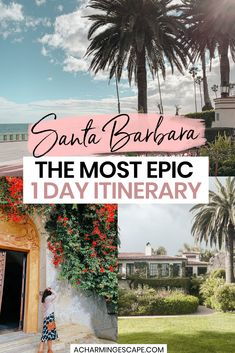 The Most Epic 1 Day Itinerary in Santa Barbara, CA. This is the list of the best things to do in Santa Barbara. Santa Barbara is a perfect stop between LA and San Francisco, and a great day trip from either city. Santa Barbara is an ideal getaway for couples, families with kids and families with dogs! 1 Day in Santa Barbara | Santa Barbara in 1 Day | 24 Hours in Santa Barbara | What to do in Santa Barbara | #california #santabarbara