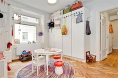 Stylish apartment with bursts of color in Stockholm