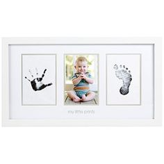 Pearhead Babyprints Photo Frame, White