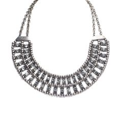 Mocha Two Row Crystal Bib Necklace Silver up to 70% off | Jewelry | Little Black Bag