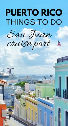 For a day in port at San Juan during your Caribbean cruise vacation, here are free things to do in Puerto Rico near the cruise port! As long as you don't mind a little walking, you can make your day itinerary a self-guided historic walking tour of Old San Juan! The old city walls and forts of San Juan are UNESCO world heritage sites and also a part of the San Juan National Historic Site which makes it a part of the national parks! Lots of history and culture to explore in Puerto Rico!