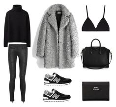 Love the mix of casual and upscale in one look! A fashion look from January 2015 featuring Uniqlo sweaters, Zadig & Voltaire coats and Karl Lagerfeld jeans. Browse and shop related looks. Sporty Chic Outfits, Mode Outfits, Fall Outfits, Casual Outfits, Fashion Outfits, Womens Fashion, Fashion Trends, Black Outfits, Comfortable Outfits