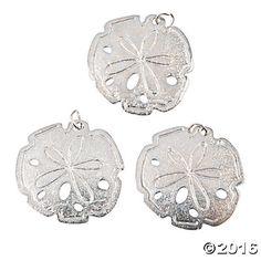 Silvertone Sand Dollar Pendants