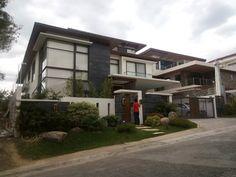 Dream Home Design, Home Design Plans, Modern House Design, Modern Houses, Contemporary Design, White Exterior Houses, Dream House Exterior, Exterior Homes, Model House Plan