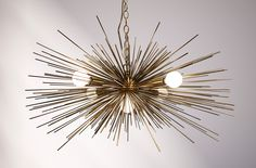 Gold Urchin Chandelier Lighting with Five Lights. $449.00, via Etsy.