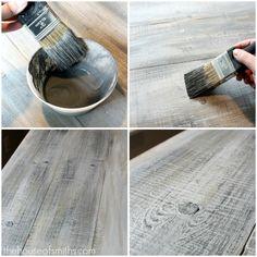 DIY:  Make new wood look like weathered barn wood - foolproof technique! Tutorial.