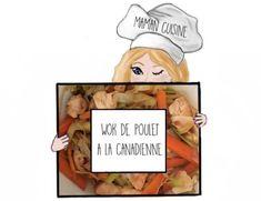 Comment cuisine un wok de poulet à la canadienne? Recette, cuisine, Appellation Maman #recettewokcanadien