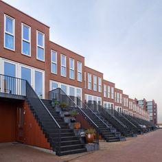 BNA  2009, herenhuizen voorzijde Arnhem, Malburgen. ( Köther, Salman,Koedijk architecten)