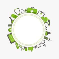 Green medical background PNG and Vector