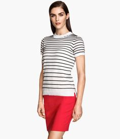 Fine knit textured striped top | H&M US summer sale