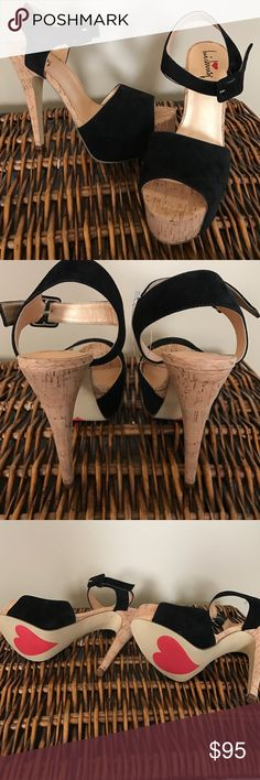 Luichiny April Daze Black cork heel sandal WOW NEW Rare and hard to find model in the coveted black color! Super sale won't last make an offer! Brand-new never worn in pristine condition no defects! Luichiny Shoes Heels