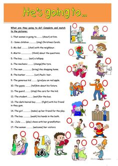 He is going to..... worksheet - Free ESL printable worksheets made by teachers