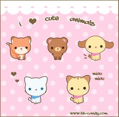 Cute kawaii animals                                                                                                                                                                                 More