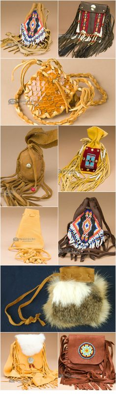 Some medicine bags are simple pouches while others have a lot of work in their creation. Beaded medicine bags or side bags as they are called feature all types of Indian art. http://www.missiondelrey.com/native-american-medicine-bags/