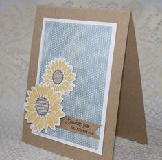 CAS sunflower card  #sunflowers, #pti, #cards