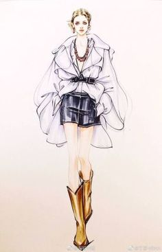 36 Ideas For Fashion Design Drawings Illustrations Colour Dress Design Sketches, Fashion Design Sketchbook, Fashion Illustration Sketches, Illustration Mode, Fashion Design Drawings, Fashion Sketches, Drawing Fashion, Fashion Design Illustrations, Arte Fashion