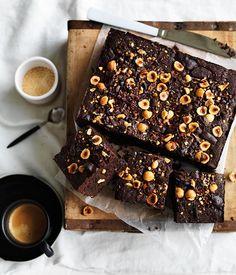 Spiced hazelnut-cacao brownie recipe - Gourmet Traveller