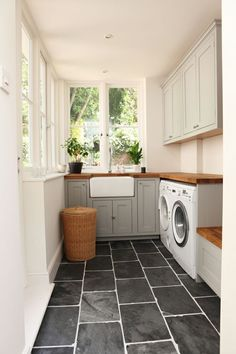 ... / LAUNDRY | Pinterest | Black Slate Floor, Laundry Rooms and Laundry