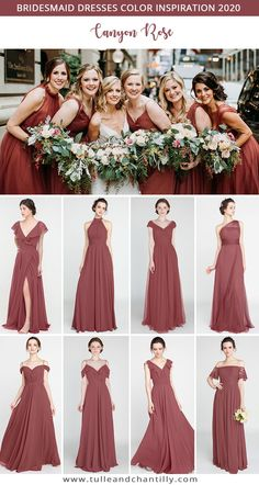 Canyon Rose wedding color ideas with bridesmaid dresses 2020 Rose Bridesmaid Dresses, Wedding Bridesmaids, Wedding Dresses, Rose Wedding, Dream Wedding, Summer Wedding, Wedding Reception, Wedding Colors, Wedding Styles