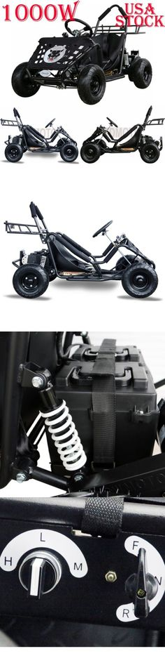Complete Go-Karts and Frames 64656: Usa 1000 Watt Electric 3 Speed Off Road Go Kart For Kids Boys Scooter Cart Black BUY IT NOW ONLY: $699.0