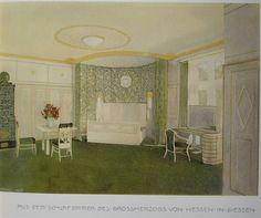J M Olbrich, chambre à coucher du grand duc de Hesse, Giessen, 1906-1907