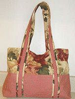 free pattern to sew a two tone fabric handbag