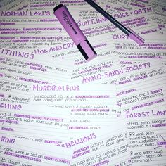 I simply used a staedtler fine liner, pastel purple highlighter and black ball point pen to create this eye catching look! It helps me to revise and definitely gives me motivation - these are just a few of one of my history sets! #study #flashcards #revision #aesthetic #school #revisionnotes