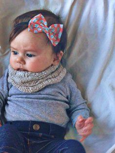 baby bow headband by turbansfortots on Etsy, $5.00