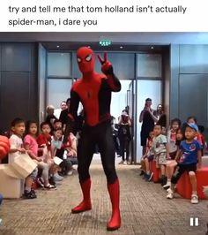 The best live-action Spiderman actor // - Avengers Endgame Avengers Humor, Marvel Jokes, Funny Marvel Memes, Dc Memes, Marvel Dc Comics, Hero Marvel, Marvel Avengers, Spiderman Actor, Deadpool X Spiderman