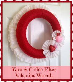Yarn & Coffee Filter Wreath by Crafty In Crosby Retro Repin #25