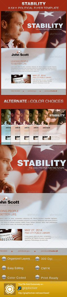 Stability Political Flyer Template - Events Flyers