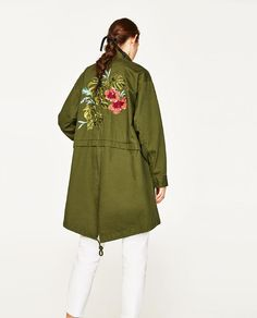 Image 6 of PARKA WITH BACK EMBROIDERY from Zara