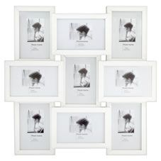 6 X 4 Inch 9 Multi Aperture White Photo Frame