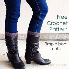 Free Crochet Pattern - Simple Boot Cuffs at The Spotted Hook