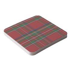 Royal Stewart Plaid Paper Coasters Square Paper Coaster