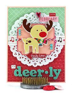 Love You Deer-ly, perfect for a February baby. By The Card Kiosk on Etsy.