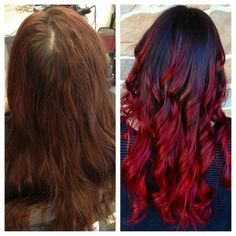 Red Ombre. Might want my hair like this.