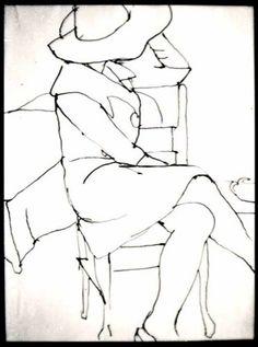 Diebenkorn.  Ink. 1963