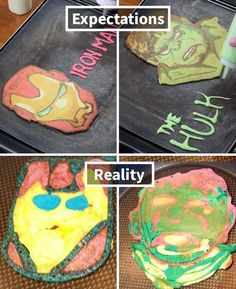 Expectation VS Reality: Epic Kitchen Fails That Will Make You Feel Better About Your Cooking Skills Bad Cakes, Baking Fails, Baking Bad, Food Fails, Cooking Classes Nyc, Expectation Reality, Funny Pictures Can't Stop Laughing, Funny Troll, Pinterest Fails
