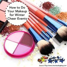 Makeup for cooler weather and indoor sports might mean changing up your style a little bit! #protip #cheertip #cheerleading #makeup #c4f #cheers4fundraising