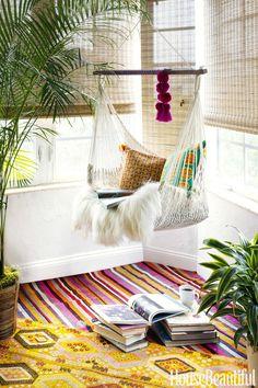 Душевная квартира дизайнера текстиля в бохо стиле во Флориде