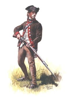 "American; 2nd Maryland Regiment (previously the Extraordinary Regiment/Battalion ), Private 1781.By Don Troiani This unit had it's own buttons marked ""MEB"""