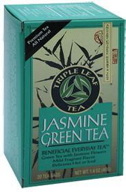 Jasmine Green Tea by Triple Leaf Teas - Buy Jasmine Green Tea 20 Bag at the Vitamin Shoppe #VitaminShoppe #GreenForGreen