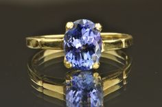 1.40 Carat Oval Tanzanite Ring